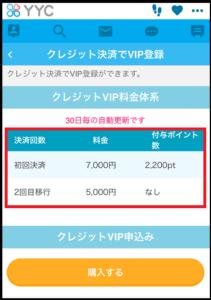 YYCVIP料金