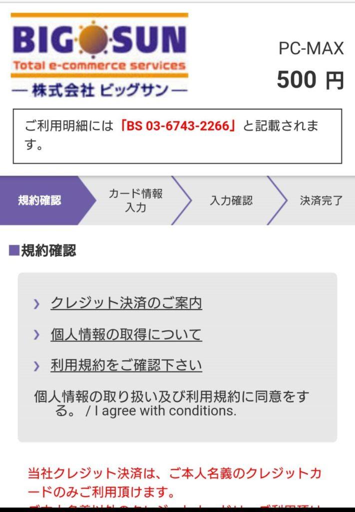 PCMAX クレジットカード ポイント追加4